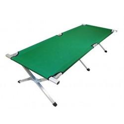 Łóżko polowe zielone -...